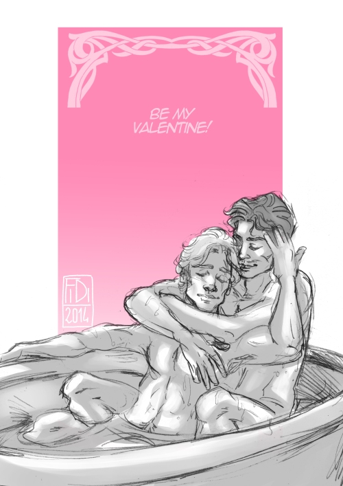 A Valentines Day sketch of Adam and Immanuel.
